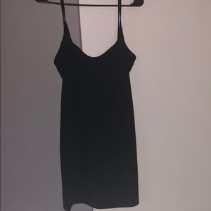 Basic Black Spaghetti Strap Dress